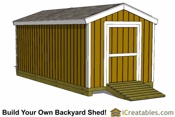 storage shed plans 8x18