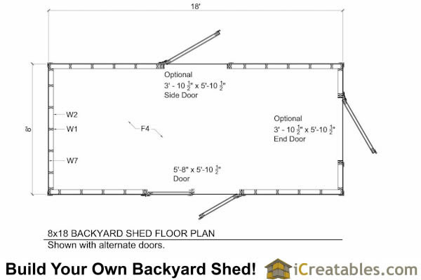 8x18 shed plans floor plan