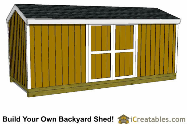 8x18 shed plans right