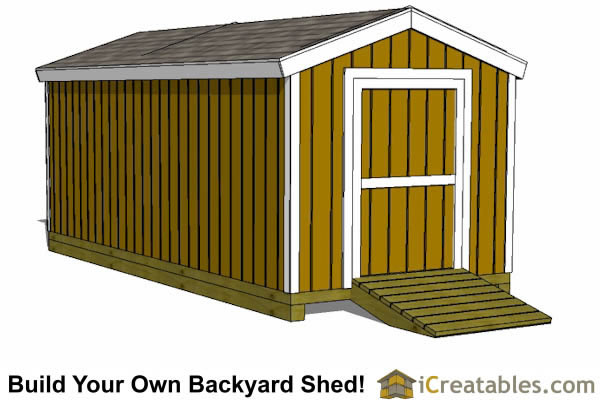 storage shed plans 8x20