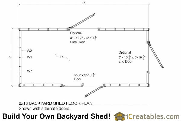 8x20 shed plans floor plan