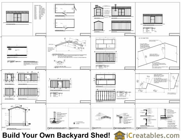 8x18 gable storage shed plans