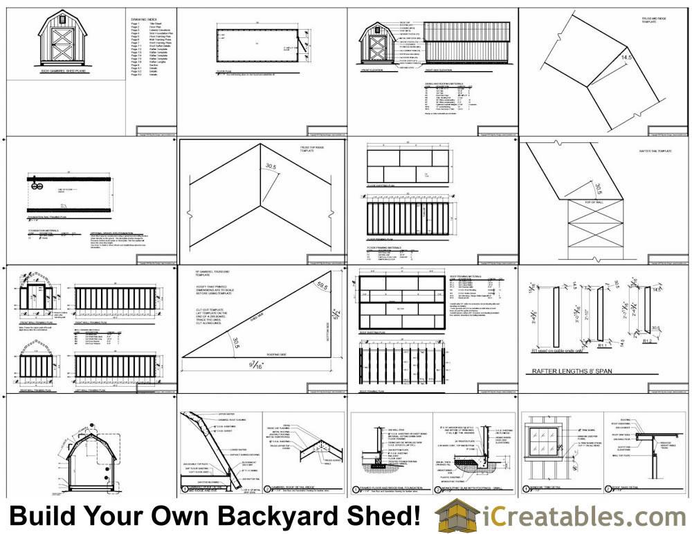 8x20 Gambrel Shed Plans Icreatables Com