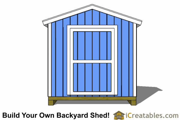 8x4 shed plans elevation