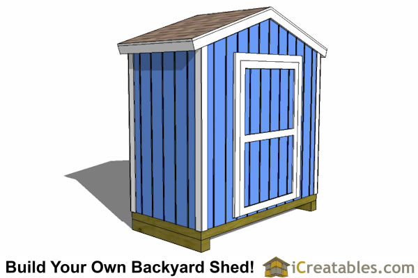 8x4 backyard shed plans