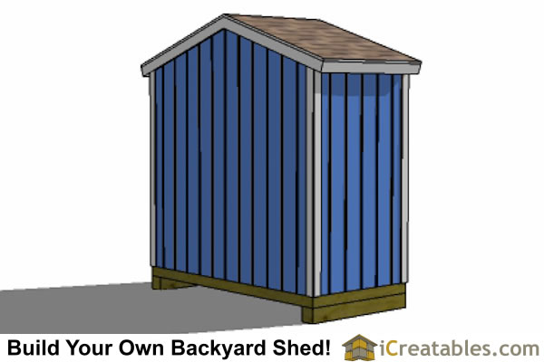 8x4 backyard shed plans left rear