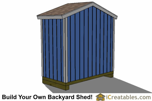 8x4 backyard shed plans right rear