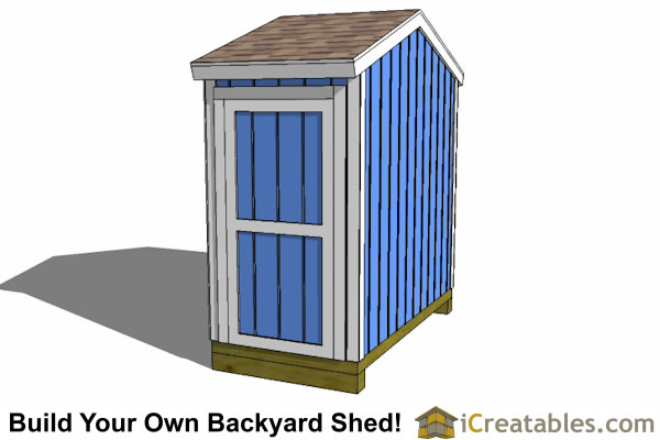 8x4 backyard shed plans side door