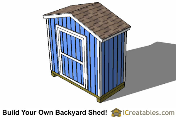 8x4 backyard shed plans top