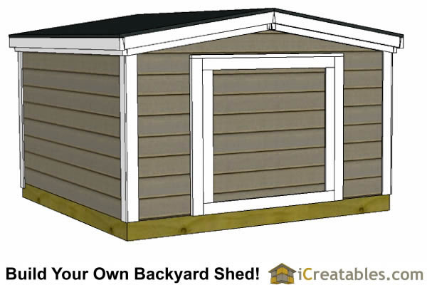8x8 6 foot tall shed plans