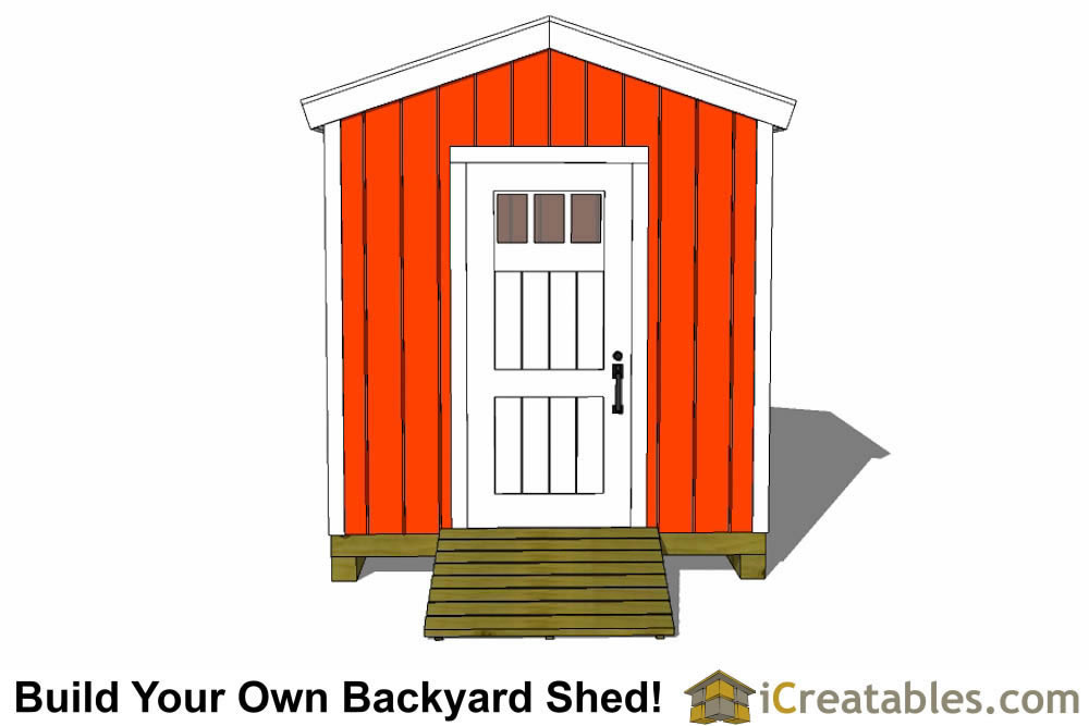 8x8 backyard shed plans rear