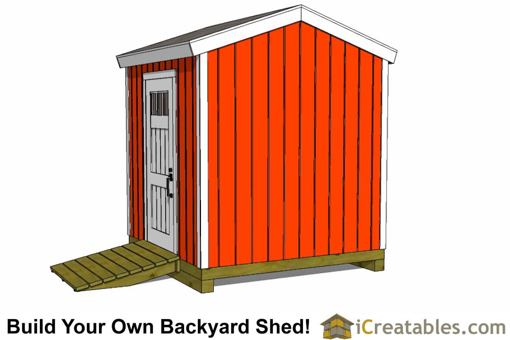 8x8 backyard shed plans tall alternate door
