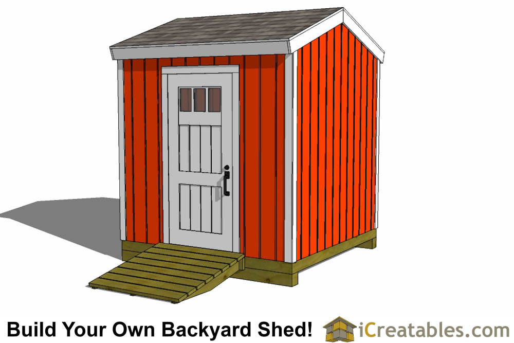 8x8 backyard shed plans tall alternate door end