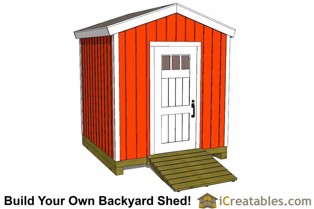 8x8 shed plans gable shed