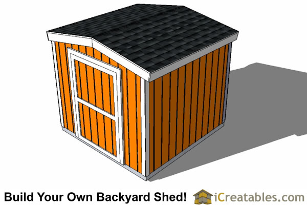 8x8 8 foot tall shed plans top