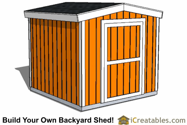 8x8 backyard shed plans 8 foot tall