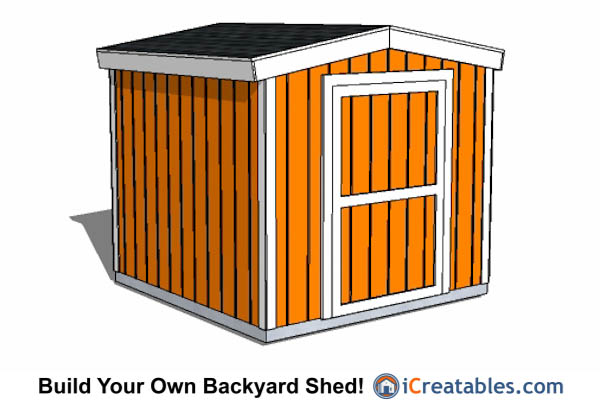 8x8 Gable Shed Short