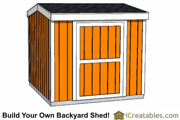 8x8 8 foot tall shed plans side door