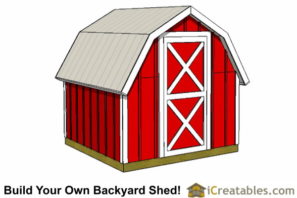 8x8 gambrel shed short barn