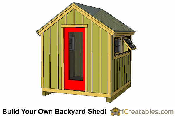 8x8 greenhouse shed plans
