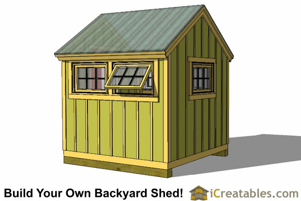 8x8 greenhouse shed plans storage shed plans icreatables for Garden shed 8x8