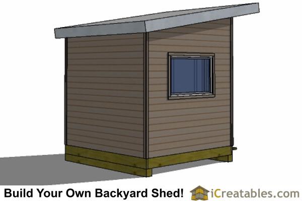 8x8 Modern Shed Plans | Center Door