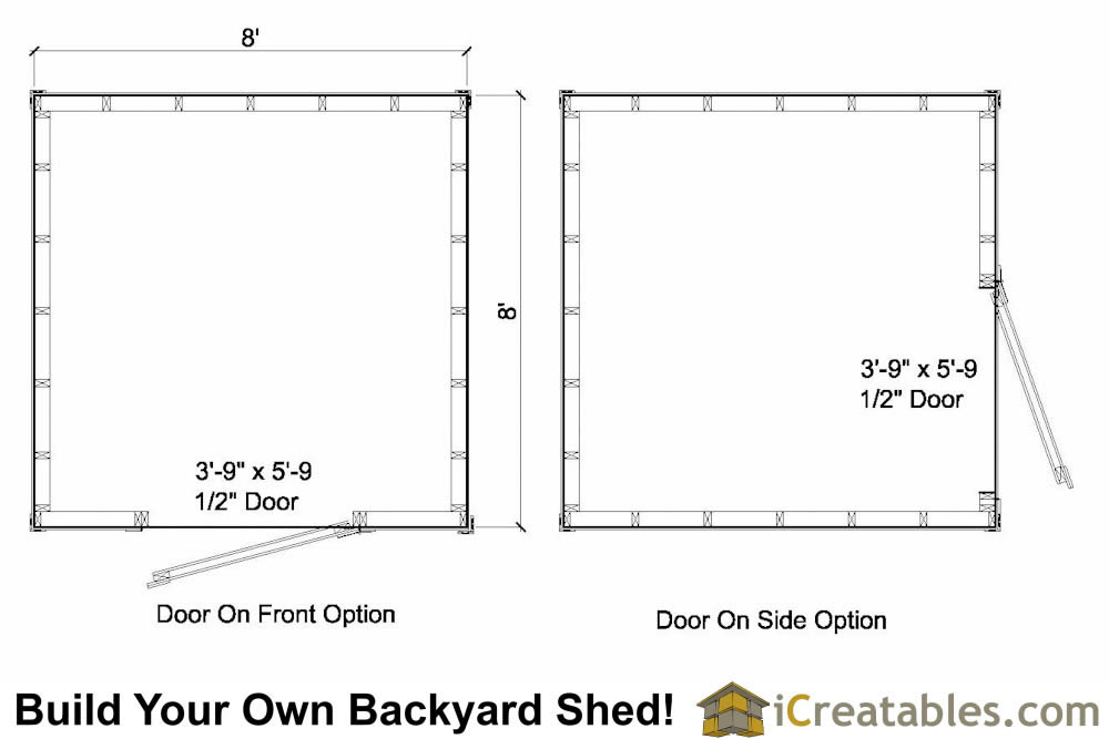 8x8 salt box shed plans floor plan