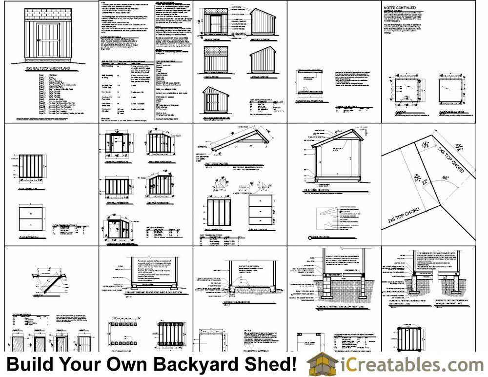 8x8 saltbox shed plans saltbox shed storage shed plans for Shed materials list