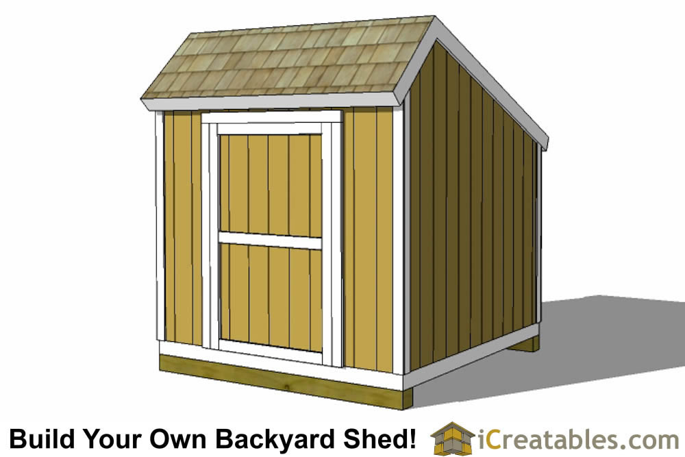 8x8 salt box shed plans front elevation