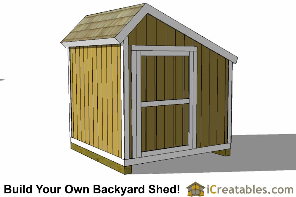8x8 saltbox shed door on end