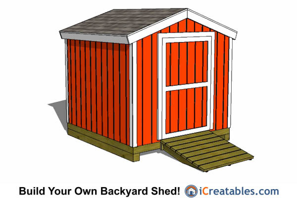 8x8 Gable Shed