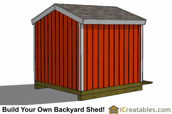 8x8 shed plans rear