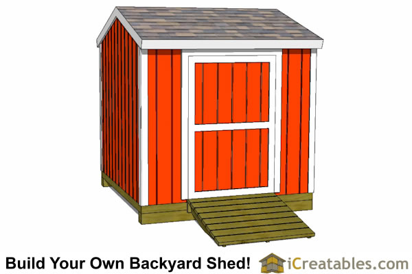 8x8 shed plans side door