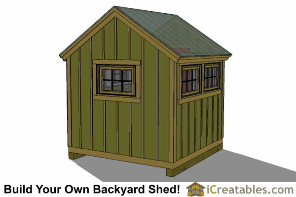 8x8 greenhouse shed plans left rear