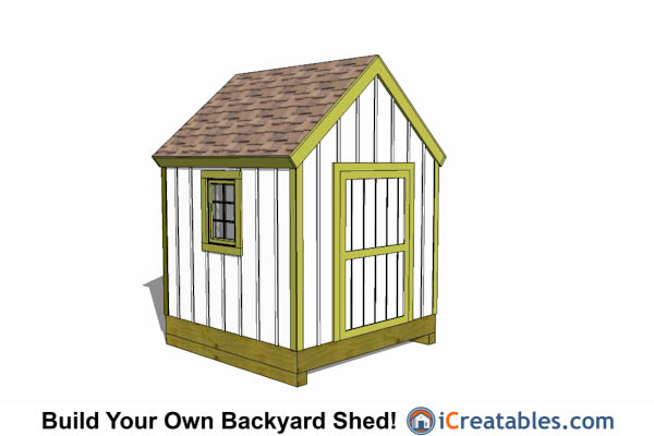 8x8 storage shed plans easy to build designs how to for Cape cod shed plans