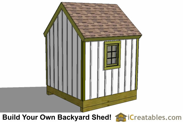 8x8 cape cod garden shed plans storage shed plans for Garden shed 8x8