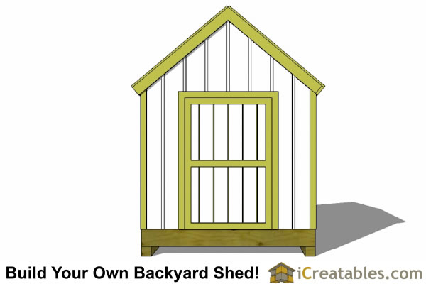 8x8 cape cod shed plans elevation