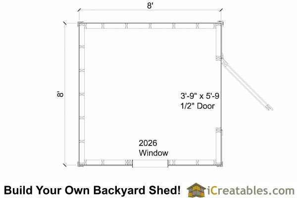 8x8 cape cod shed floor plans