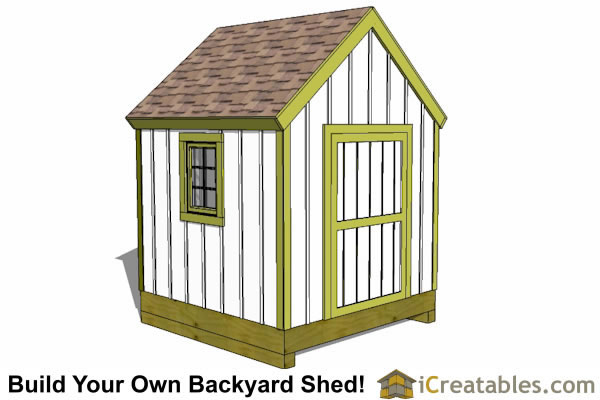 8x8 Storage Shed Plans - Easy to Build Designs - How to Build a Shed