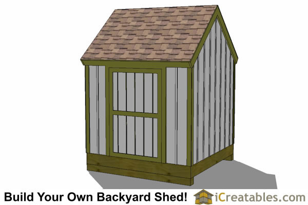 8x8 cape cod shed plans left side