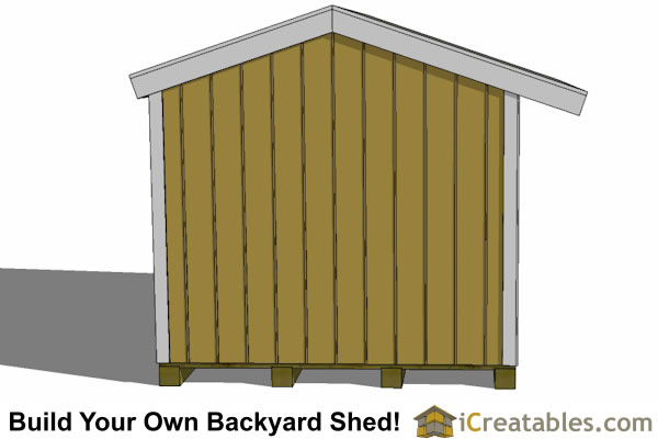 8x8 firewood shed left side
