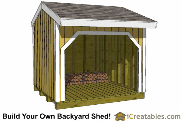 8x8 firewood shed plans