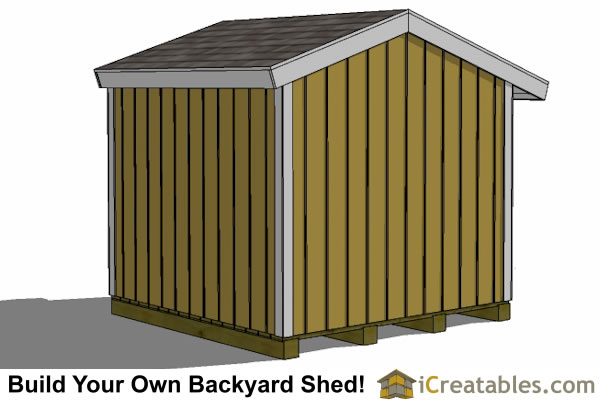 8x8 firewood shed rear