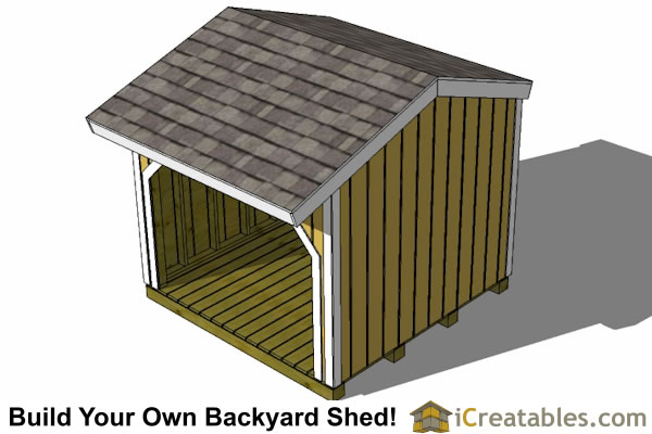 8x8 firewood shed partition