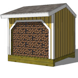 how to build a 8x8 wood shed
