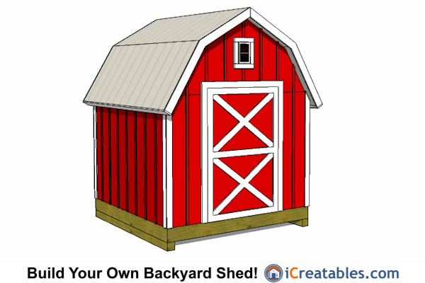 8x8 Gambrel Shed