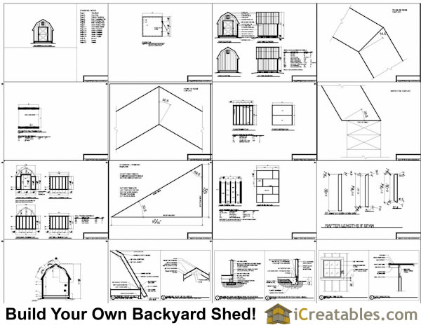 8x8 gambrel shed plans online