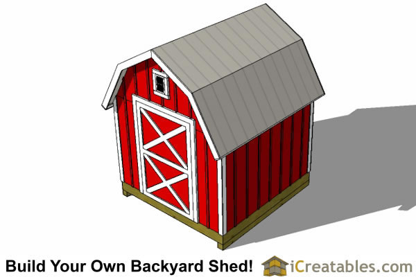 8x10 Gambrel Shed Plans Icreatables Com