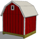 8x8 gambrel shed plans rear