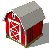 8x8 gambrel shed plans top